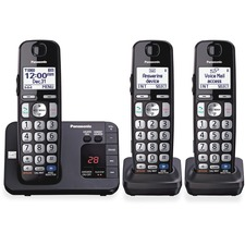 PAN KXTGE233B Panasonic KXTGE233B Digital Cordless Answ. System PANKXTGE233B