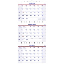 AAG PMLF1128 At-A-Glance 3-mth View Wall Calendar AAGPMLF1128