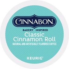Cinnabon Brown Sugar Classic Cinnamon Roll Coffee - Regular - Light - K-Cup - 24 / Box