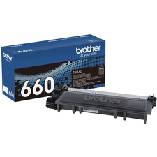 Brother Genuine TN660 High Yield Black Toner Cartridge - Laser - High Yield - Black - 1 Each