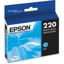 Epson DURABrite Ultra 220 Ink Cartridge - Cyan - Inkjet - Standard Yield - 165 Pages - 1 Each