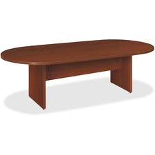 Basyx by HON Medium Cherry Laminate Oval Conference Table