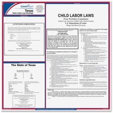 TFP E10TX TFP Data Sys. Texas State Labor Law Poster TFPE10TX