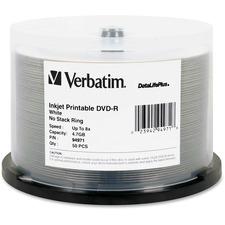 VER 94971 Verbatim 8X DataLifePlus Inkjet DVD-R VER94971
