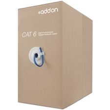 AddOn 1,000ft Cat6A STP 24AWG Solid Plenum Blue Patch Cable