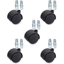 LLR 33445 Lorell Premium Dual Hard Wheel Casters Set LLR33445