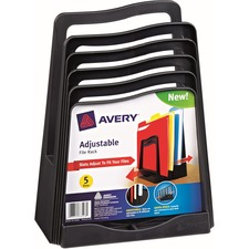 AVE 73523 Avery Five Slot Plastic Adjustable File Rack AVE73523