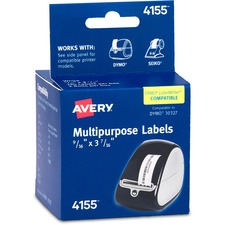 AVE 4155 Avery Thermal Print Multipurpose Label Rolls AVE4155