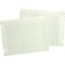 WLJ G1010 Acco/Wilson Jones Prepunched Ledger Paper Sheets WLJG1010