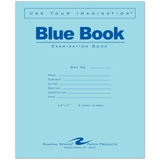 ROA 77512EA Roaring Spring Blue Book 8-sheet Exam Booklet ROA77512EA