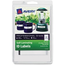 AVE 00747 Avery Handwrite Only Self-laminating ID Labels AVE00747