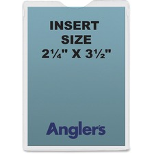 ANG 1404P50 ANGLER'S Self-stick Crystal Clear Poly Envelopes ANG1404P50