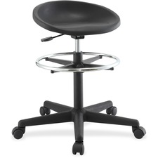 LLR 66916 Lorell Chromed Footring Adjustable Stool LLR66916