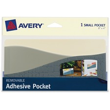 "AVE 40212 Avery 8""x4"" Removable Adhesive Wall Pocket AVE40212"
