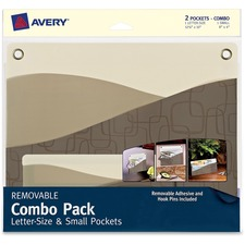 AVE 40216 Avery Removable Adhesive Wall Pocket Combo Pack AVE40216