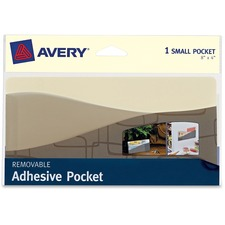 "AVE 40210 Avery 8""x4"" Removable Adhesive Wall Pocket AVE40210"
