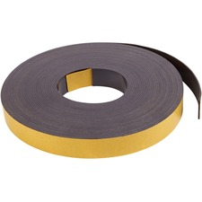 "MasterVision Magnetic Tape - 1"" Width x 50 ft Length - 1 Each - Black"