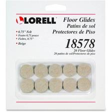 LLR 18578 Lorell Felt Floor Glides LLR18578