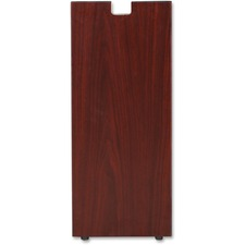 "Lorell Mahogany Laminate Credenza Leg - Rectangular Base - 28"" Height x 11.75"" Width x 1"" Depth - Assembly Required - Laminated, Mahogany"