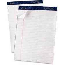 """TOPS Gold Fibre Ruled Perforated Writing Pads - 50 Sheet - 16 lb - Legal/Wide Ruled - Letter 8.50"""" x 11"""" - 12 / Dozen"""