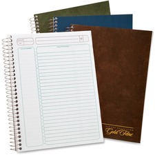 """TOPS Gold Fibre Premium Wirebnd Project Planner - Action - White Sheet - Wire Bound - Assorted - 9.5"""" Height x 7.3"""" Width - Notes Area, Heavyweight, Micro Perforated, Durable Cover, Sturdy Back, Easy Tear - 1 Each"""