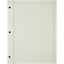TOP 22144 Tops Green Tint Engineer's Quadrille Pad TOP22144