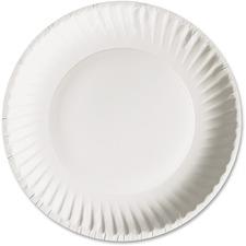 "AJM Green Label Economy Paper Plates - 9"" Diameter Plate - Paper - 100/Pack"
