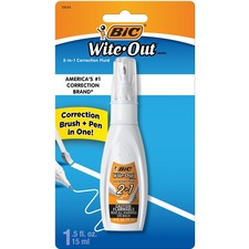 BIC WOPFP11 Bic Wite Out 2-in1 Correction Fluid BICWOPFP11