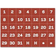 """BVC FM1209 Bi-silque Magnetic Calendar Dates 1"""" Characters BVCFM1209"""