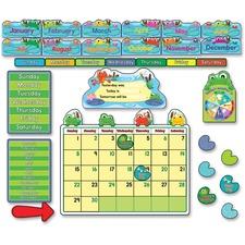 CDP 110205 Carson PreK- Grade 3 FUNky Frogs Calendar Set CDP110205