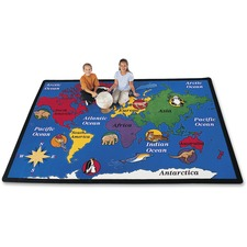CPT 1501 Carpets for Kids World Explorer Geography Area Rug CPT1501