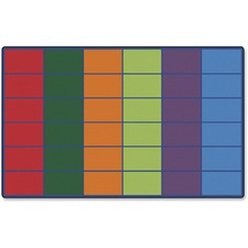 CPT 4634 Carpets for Kids Color Rows 36-space Seating Rug CPT4634