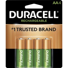 DUR NLAA4BCD Duracell StayCharged AA Rechargeable Batteries DURNLAA4BCD