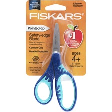 "FSK 1942301001 Fiskars Softgrip Pointed-tip 5"" Kids Scissors FSK1942301001"