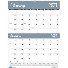 HOD 337 Doolittle Bar Harbor Blue/Gray 2-mth Wall Calendar HOD337