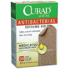 MII CUR149255 Medline Curad Antibacterial Extreme Hold Bandages MIICUR149255