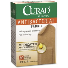 MII CUR47255 Medline Curad Antibacterial Fabric Bandages MIICUR47255