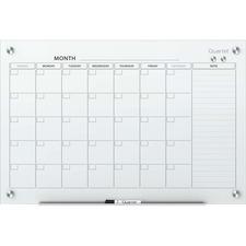 QRT GC4836F Quartet Infinity Magnetic Glass Calendar Board QRTGC4836F