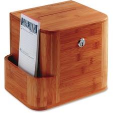 SAF 4237CY Safco Bamboo Suggestion Box SAF4237CY