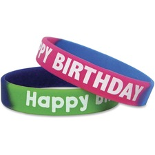 TCR 6571 Teacher Created Res. Happy Birthday Wristbands TCR6571