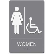 """Headline Women/Whlchr Image Indoor Sign - """"women"""