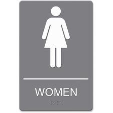 USS 4816 U.S. Stamp & Sign ADA Women Restroom Sign w Symbol USS4816