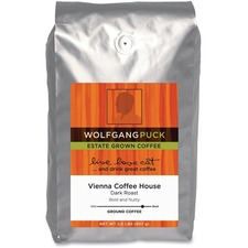 Wolfgang Puck Vienna Coffee House Ground Coffee - Caffeinated - Rich Aroma - Dark - 32 oz
