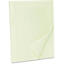 TOP 22142 Tops Green Tint Engineer's Quadrille Pad TOP22142