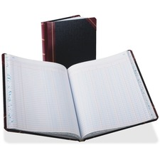 BOR 2115012 Boorum Double Page Columnar Book BOR2115012