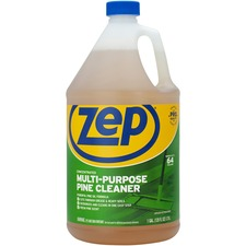 Zep Multipurpose Pine Cleaner - Liquid - 1 gal (128 fl oz) - Fresh Pine ScentBottle - 1 Each - Brown