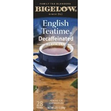 BTC 10357 Bigelow English Teatime Decaffeinated Black Tea BTC10357