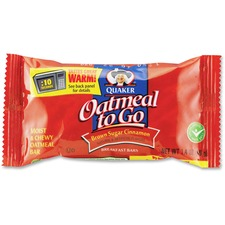 ... 43947 Quaker Oats Oatmeal To Go Brown Sugar/Cinnamon Breakfast Bar Bar