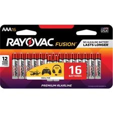 RAY 82416SCTFUS Rayovac Fusion Alkaline AAA Batteries RAY82416SCTFUS