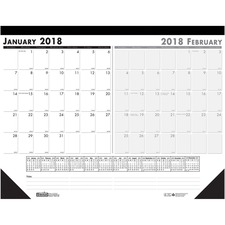 "HOD 1346 Doolittle Two-month 18-1/2"" Desk Pad  HOD1346"